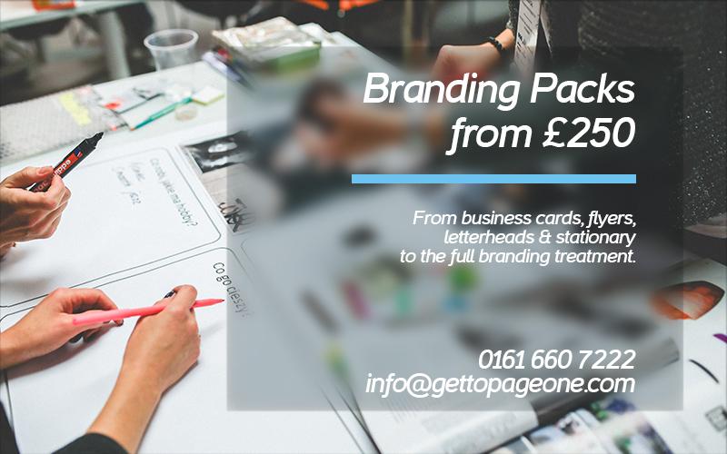 Branding & design work - Get To Page One Ltd