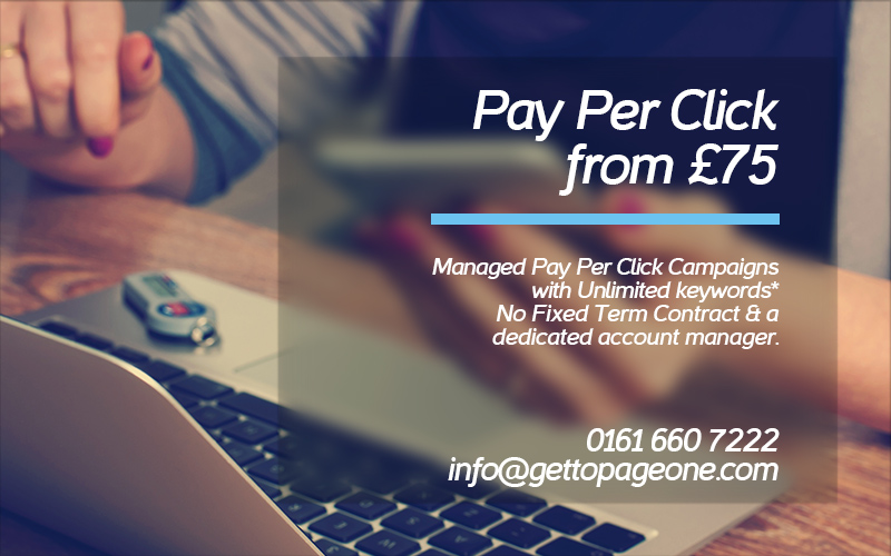 PPC / pay per click management - Get To Page One Ltd