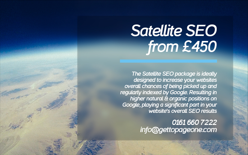Satellite SEO Package - get to page one ltd