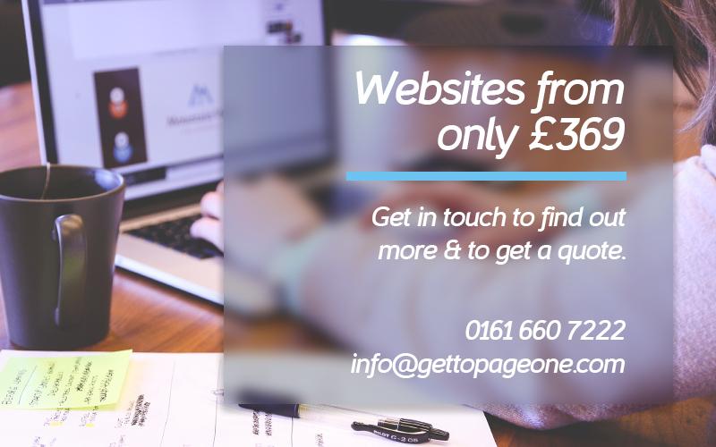 Website design - get to page one ltd